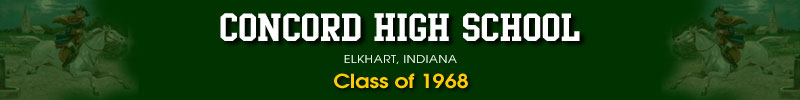 Offical Concord Class of 68, Elkhart, Reunion Web Site